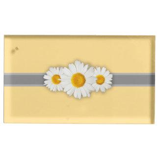 Daisy Ribbon - Gele Grijs & Wit Plaatskaart Houder