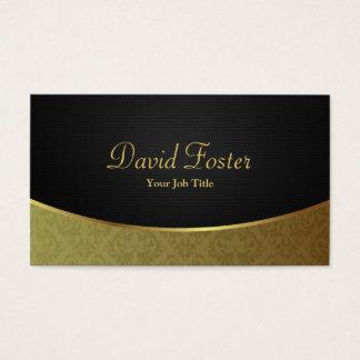Damassé de luxe élégante de noir et d'or cartes de visite