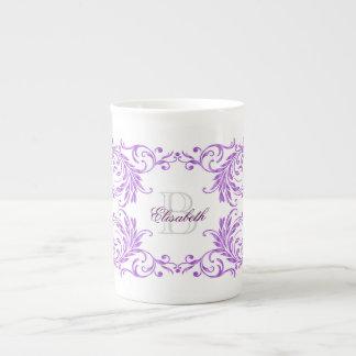 Damassé de violette de monogramme mug