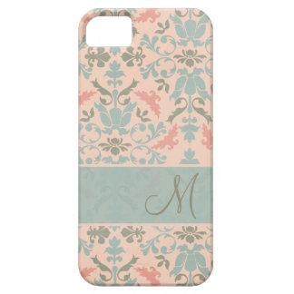 Damassé florale chic de monogramme coques Case-Mate iPhone 5