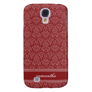 Damassé Pern (rouge) Coque Galaxy S4