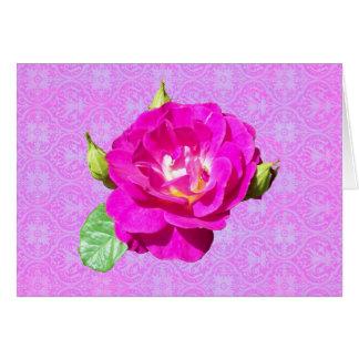 Damassé rose de violette carte
