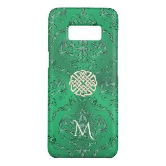 Damassé verte irlandaise avec le noeud de Celtic Coque Case-Mate Samsung Galaxy S8