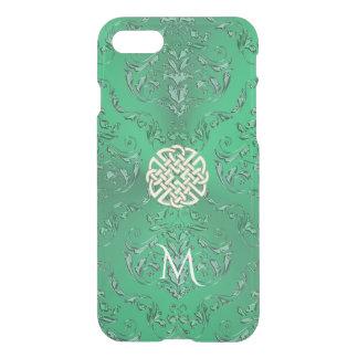 Damassé verte irlandaise avec le noeud de Celtic Coque iPhone 7