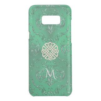 Damassé verte irlandaise avec le noeud de Celtic Coquer Get Uncommon Samsung Galaxy S8 Plus
