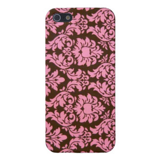 Damassé victorienne rose Girly Coques iPhone 5