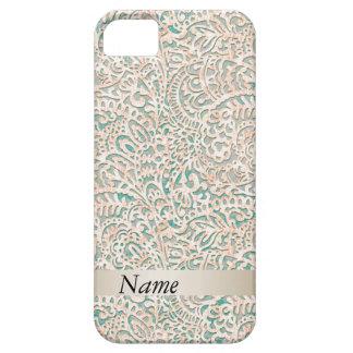 Damassé vintage girly impressionnante fabuleuse coque iPhone 5 Case-Mate