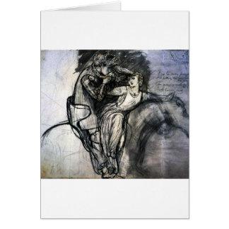 Dame de belle de La de Dante Gabriel Rossetti sans Carte De Vœux