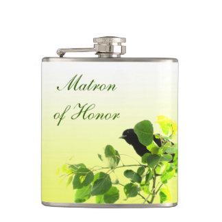 Dame de honneur de mariage de merle flasques