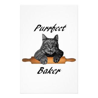 Dame folle de chat de cadeaux de chat de Baker de Papeterie