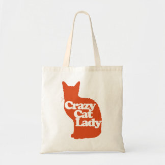 Dame folle de chat sac en toile budget