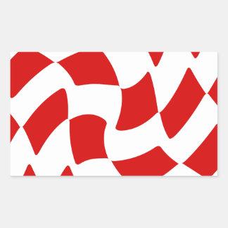Damier rouge blanc autocollants stickers - Carrelage damier rouge et blanc ...