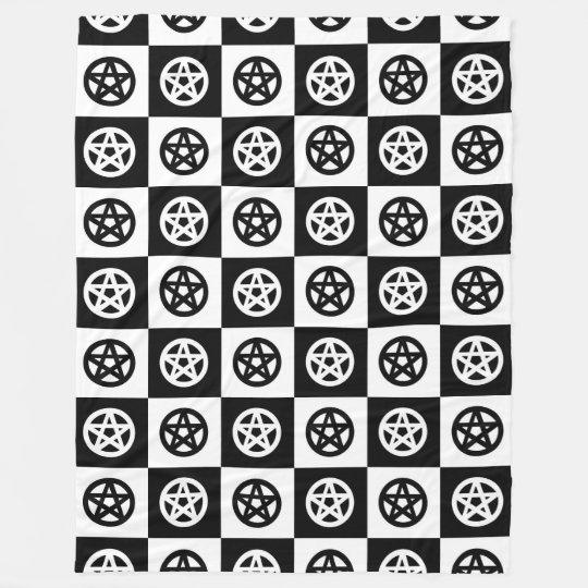 Damier noir et blanc de pentagramme