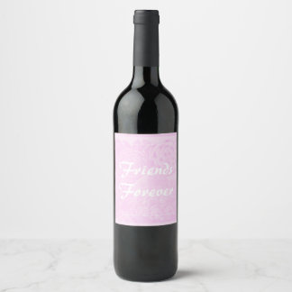 D'amis étiquette de cadeau de bouteille de vin