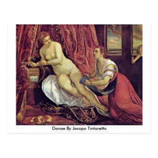 Danae par Jacopo Tintoretto Carte Postale