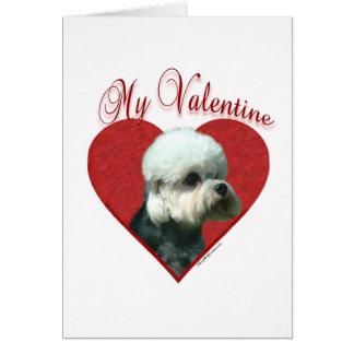 Dandie Dinmont Terrier mon Valentine Carte