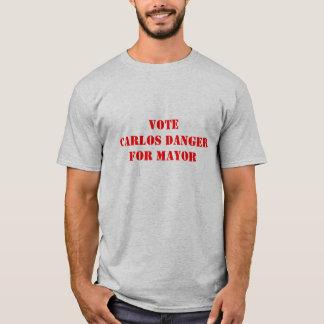 Danger de Carlos pour le maire - T-shirt d'Anthony