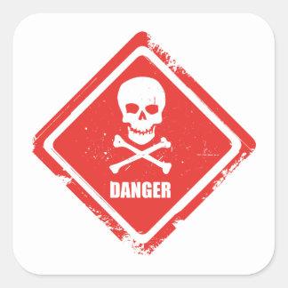 Danger Sticker Carré