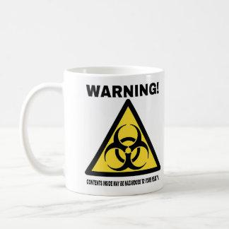 Dangereux ! (main droite dominante) mug