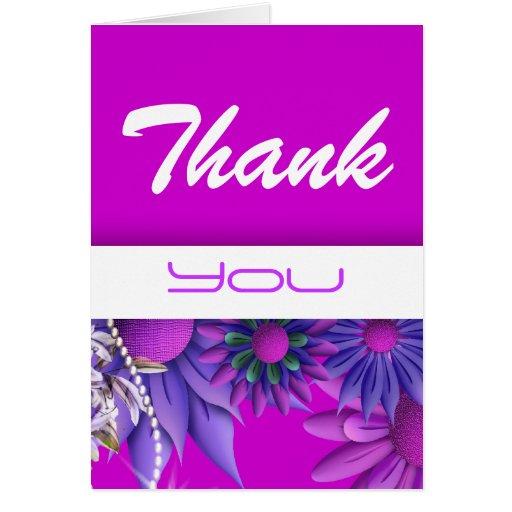"""""""dank u"""" roze blauwe huwelijksverjaardag kaart"""