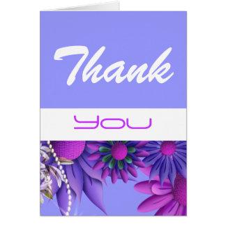 """""""dank u"""" roze blauwe huwelijksverjaardag wenskaart"""