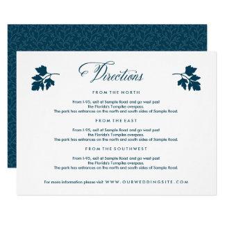Dans la carte de directions de mariage de jardin carton d'invitation 8,89 cm x 12,70 cm