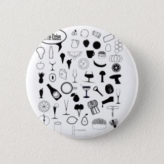 Dans la cuisine badge rond 5 cm