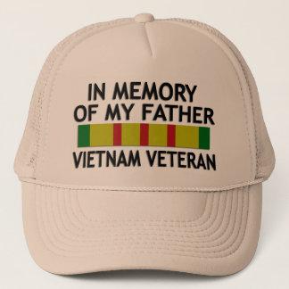 Dans la mémoire du casquette kaki de vétéran du