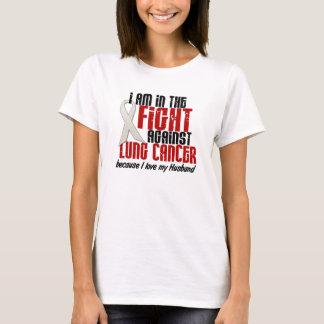 Dans le MARI de cancer de poumon de combat T-shirt
