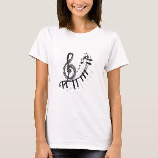 Dans le musica de Curto de musique T-shirt