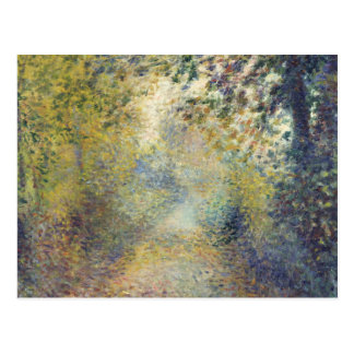 Dans les bois par Pierre-Auguste Renoir Carte Postale