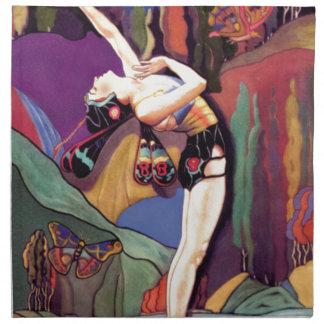 Danse avec des papillons serviettes de table