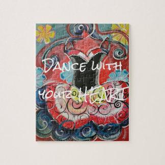 Danse avec votre puzzle de coeur