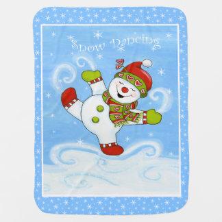Danse de neige couvertures de bébé