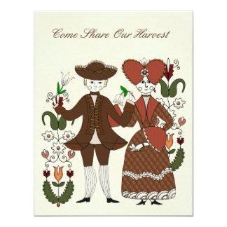 Danse de récolte carton d'invitation 10,79 cm x 13,97 cm