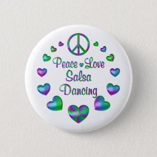 Danse de Salsa d'amour de paix Badge Rond 5 Cm