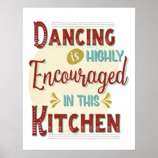 Danse dedans fortement encouragée dans cette poster