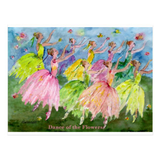 Danse des fleurs carte postale