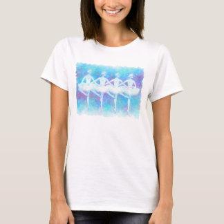 Danse du T-shirt léger de cygnes de bébé