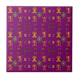 Danse égyptienne Egypte de hiéroglyphes Petit Carreau Carré