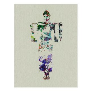 Danseur 7 de kimono carte postale