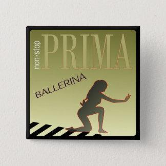 Danseur classique badge carré 5 cm