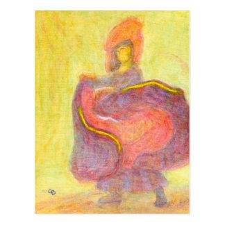 Danseur dans le costume chinois, carte postale