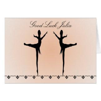 Danseur de bonne chance carte de vœux