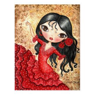 """""""Danseur de flamenco """" Carte Postale"""