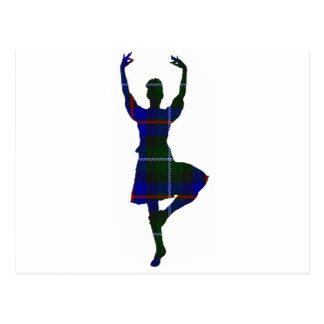 Danseur des montagnes écossais carte postale