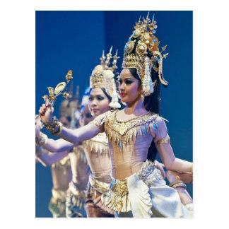 Danseurs asiatiques cartes postales