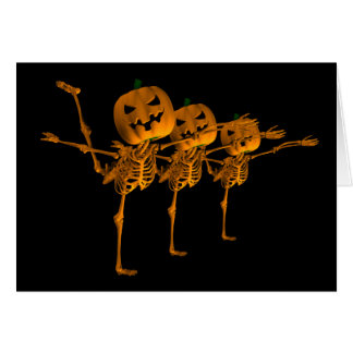 Danseurs de squelette de ballet de Halloween Carte