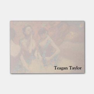 Danseurs d'Edgar Degas | dans des jupes jaunes
