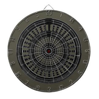 DARD Chakra - dur rugueux de roues argentées Jeux De Fléchettes